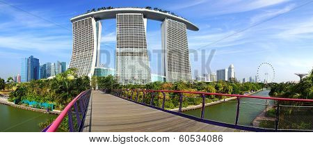 Panoramic view of the Marina Bay Sands.