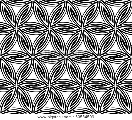 Seamless Floral Circular Pattern. Vector Illustration