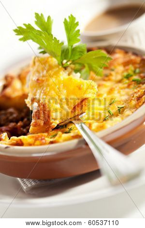 Shepherd's Pie with Mushrooms Sauce