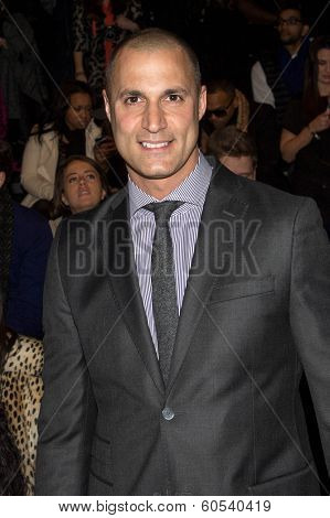 NEW YORK-FEB 8: Nigel Barker attends the Jill Stuart fashion show during Mercedes-Benz Fashion Week Fall 2014 at Lincoln Center on February 8, 2014 in New York City.