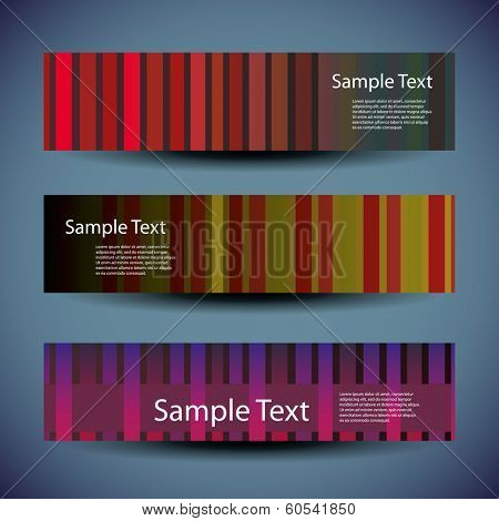 Banner or Header Design with Striped Pattern