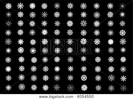 One Hundred Snowflakes