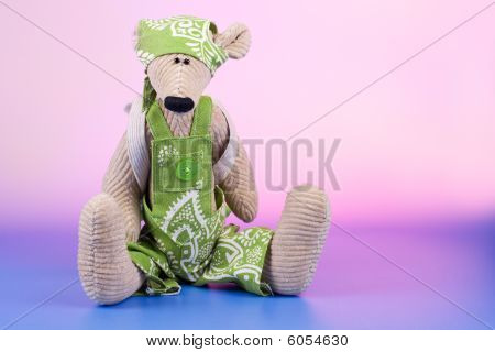 Sad Sitting Toy With Rucksack