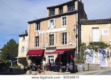 Typical local restaurant in Gordes, France