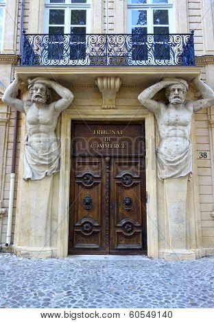 Tribunal de Commerce on Cours Mirabeau in Aix-en-Provence, France