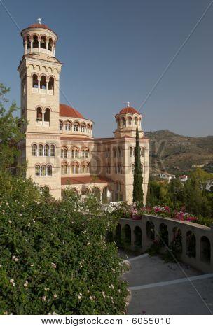 Saint Nectarius church in Aegina island Greece