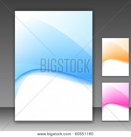Modern Folder Template Different Colors