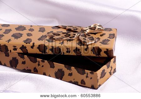 Beautiful bijouterie in gift box on background