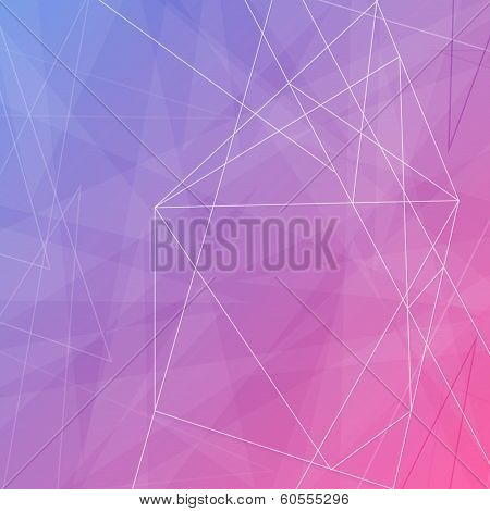 Modern Abstract Crystal Background Template