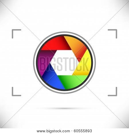 Bright Rainbow Camera Shutter Diaphragm