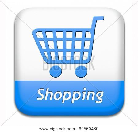 online shopping internet web shop webshop icon or button