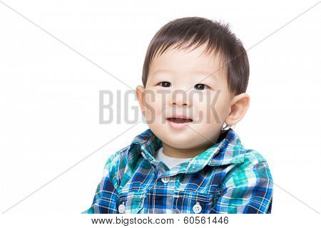 Asian little boy smile