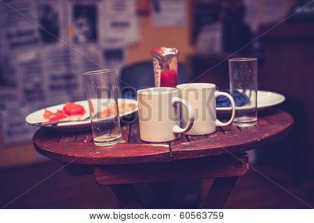 Leftover Breakfast In Cafe