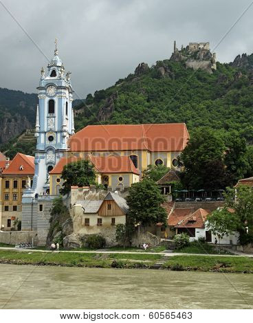Monastery Duernstein at river Danube (Wachau, Lower Austria)