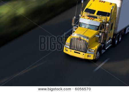 Yellow Semitruck