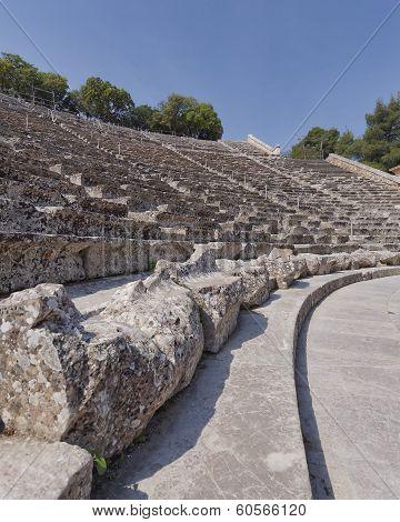 patterns of Epidaurus ancient Greek theatre