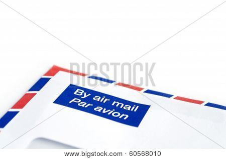 Envelope By Air Mail With White Space For Text