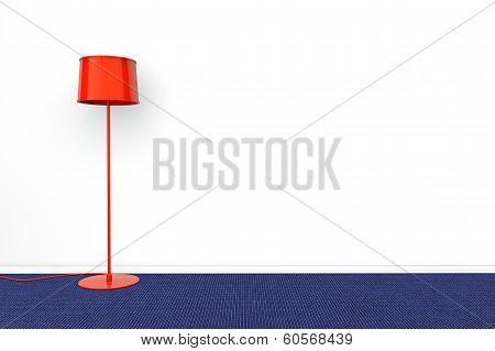 Modern Red Lamp