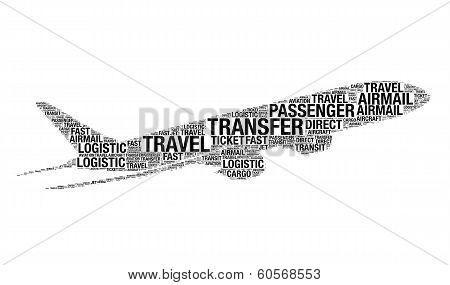 Aviation Concept Made With Words