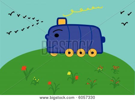 gay train on the meadow