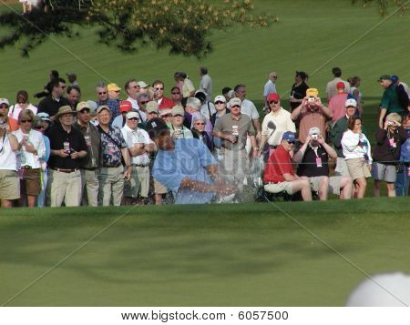 Tiger Woods at Augusta golf Masters 2005