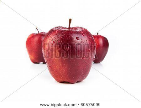 Maroon Apples Closeup