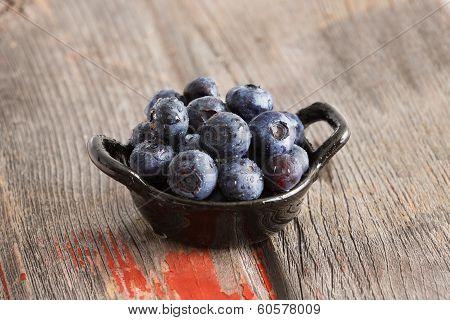 Healthy Ripe Autumn Blueberries