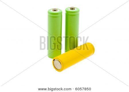 Multi-coloured Batteries