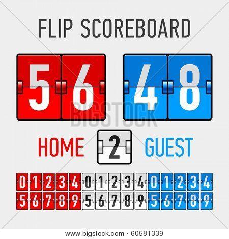 Flip Scoreboard. Vector.