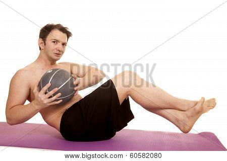 Man Fitness Medicine Ball Twist