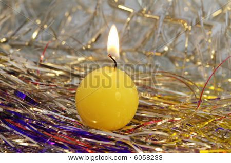 Yellow Round Candle.