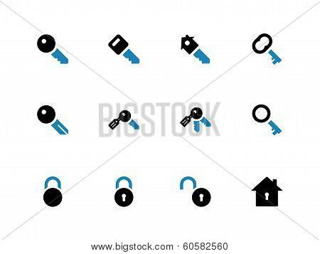 Key duotone icons on white background.