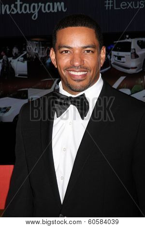 LOS ANGELES - FEB 25:  Laz Alonso at the 2nd Annual ICON MANN Power Dinner at Peninsula Hotel on February 25, 2014 in Beverly Hills, CA
