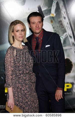 LOS ANGELES - FEB 24:  Sarah Paulson, Jason Butler Harner at the