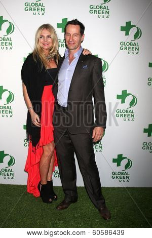 LOS ANGELES - FEB 26:  Carolin Copeland, Sebastian Copeland at the Global Green USA Pre-Oscar Event at Avalon Hollywood on February 26, 2014 in Los Angeles, CA