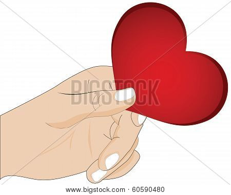 A Hand Giving Heart