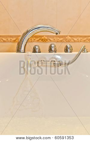 faucet handles in the bathroom shower
