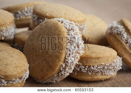 Round Cookies In Wood