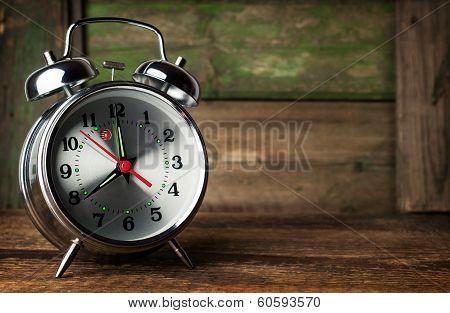 Silver Retro Alarm Clock