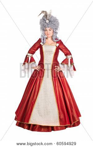 Woman In Red Queen Dress