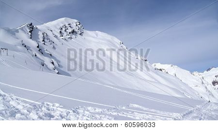Panoramic View On Off-piste Slope