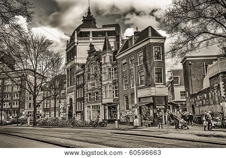 old hauses in amsterdam