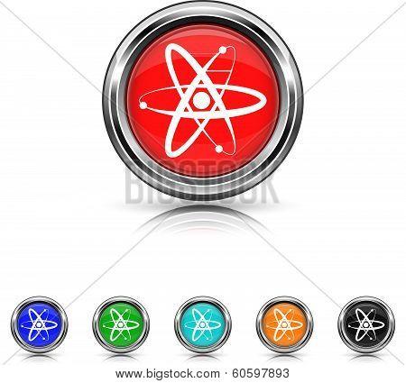 Atoms Icon - Six Colors Vector Set