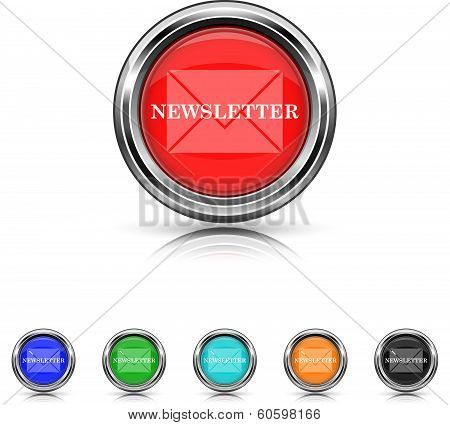 Newsletter Icon - Six Colors Vector Set
