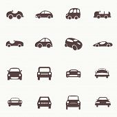 stock photo of car symbol  - Cars Icons Set - JPG