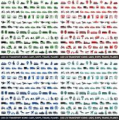 pic of tractor-trailer  - 480 Transport icons - JPG