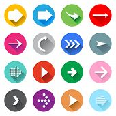 Arrow icons set. Flat design