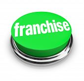 stock photo of food chain  - Franchise Word Button New Chain Brand Business Opportunity - JPG