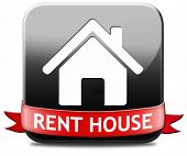 house for rent sign, renting a flat, room apartment or other real estate sign. Home to let icon.