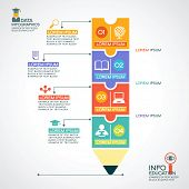 picture of education  - Creative infographics Template with pencil - JPG